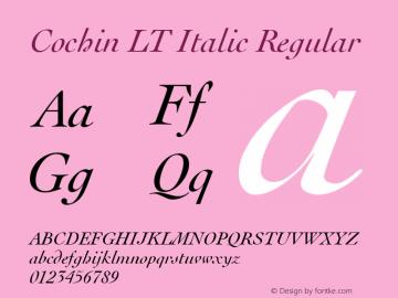 Cochin LT Italic