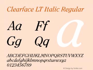 Clearface LT Italic