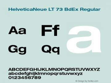 HelveticaNeue LT 73 BdEx