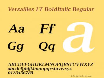 Versailles LT BoldItalic