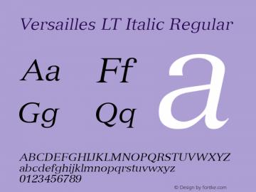 Versailles LT Italic