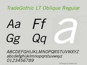 TradeGothic LT Oblique