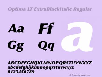 Optima LT ExtraBlackItalic