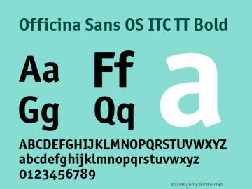 Officina Sans OS ITC TT