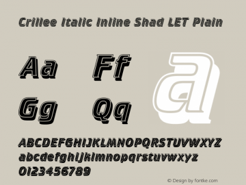 Crillee Italic Inline Shad LET