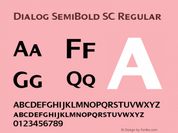 Dialog SemiBold SC