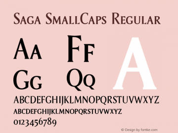 Saga SmallCaps