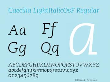 Caecilia LightItalicOsF