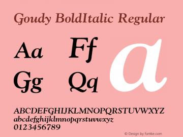 Goudy BoldItalic