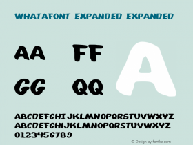 Whatafont Expanded