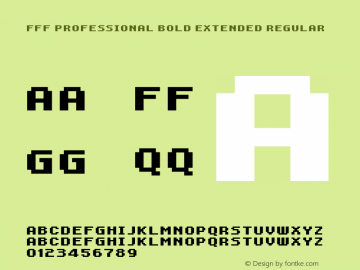 FFF Professional Bold Extended