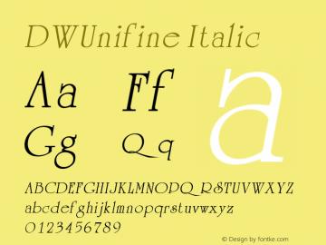 DWUnifine