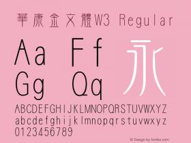 華康金文體W3
