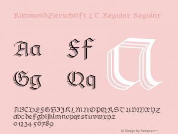 RichmondZierschrift LT Regular