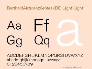 BertholdAkzidenzGroteskBE-Light