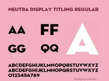Neutra Display Titling