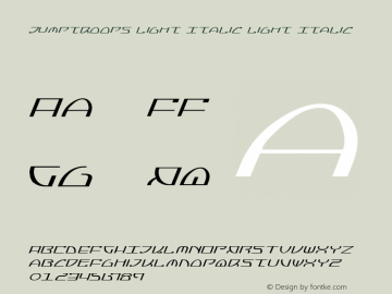 Jumptroops Light Italic