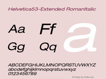 Helvetica53-Extended