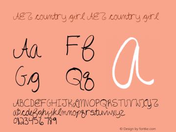AEZ country girl