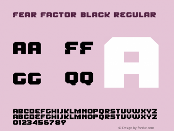 Fear Factor Black