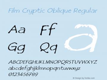 Film Cryptic Oblique