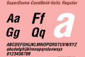 SuperDome-CondBold-Italic