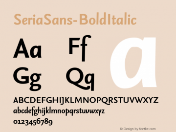 SeriaSans-BoldItalic