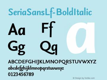 SeriaSansLf-BoldItalic