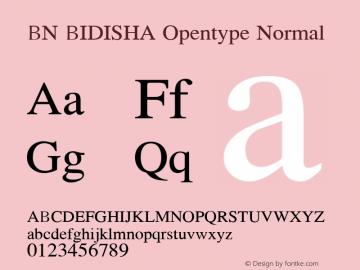 BN BIDISHA Opentype