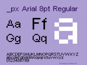 px Arial 8pt