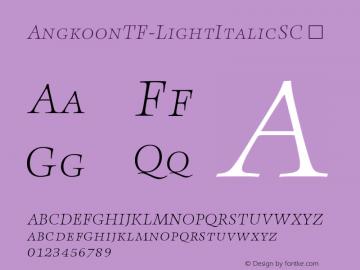 AngkoonTF-LightItalicSC