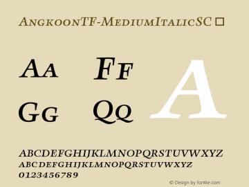 AngkoonTF-MediumItalicSC