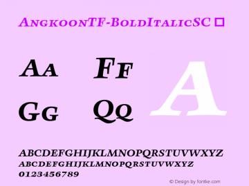 AngkoonTF-BoldItalicSC