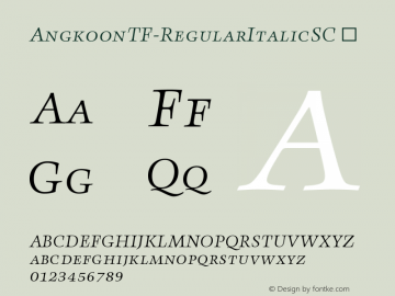 AngkoonTF-RegularItalicSC