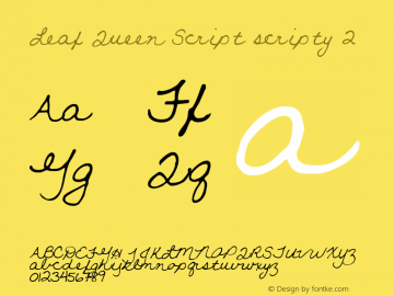 Leaf Queen Script