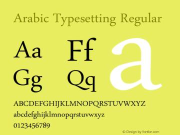 Arabic Typesetting