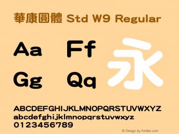 華康圓體 Std W9