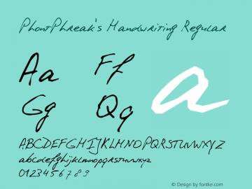 PhontPhreak's Handwriting