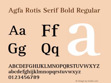 Agfa Rotis Serif Bold