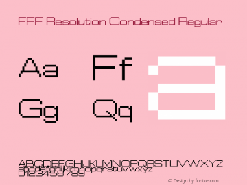 FFF Resolution Condensed