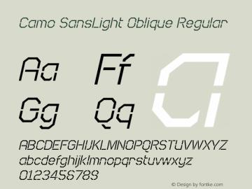 Camo SansLight Oblique