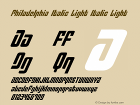 Philadelphia Italic Light