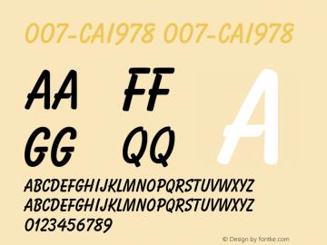 007-CAI978