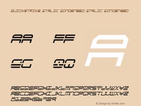 QuickStrike Italic Condensed