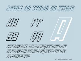 Soviet 3D Italic
