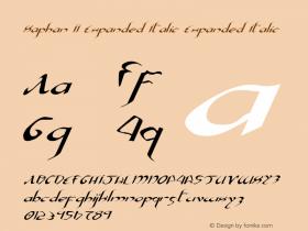 Xaphan II Expanded Italic