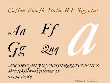 Caslon Swash Italic WF