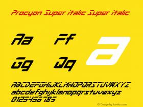 Procyon Super Italic