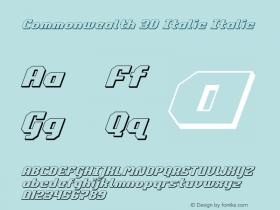 Commonwealth 3D Italic