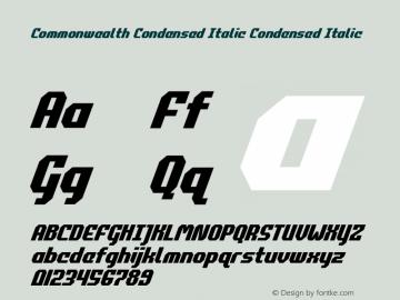 Commonwealth Condensed Italic